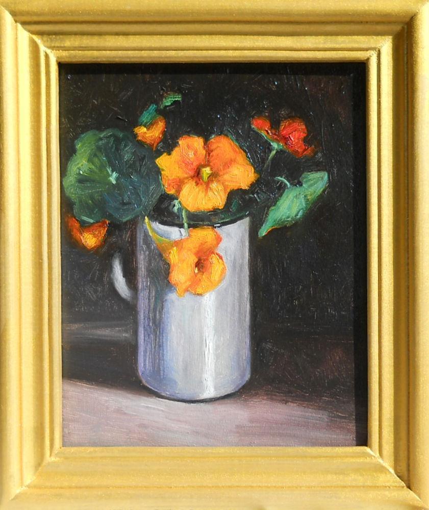 Picturi cu flori cana alba cu condurasi