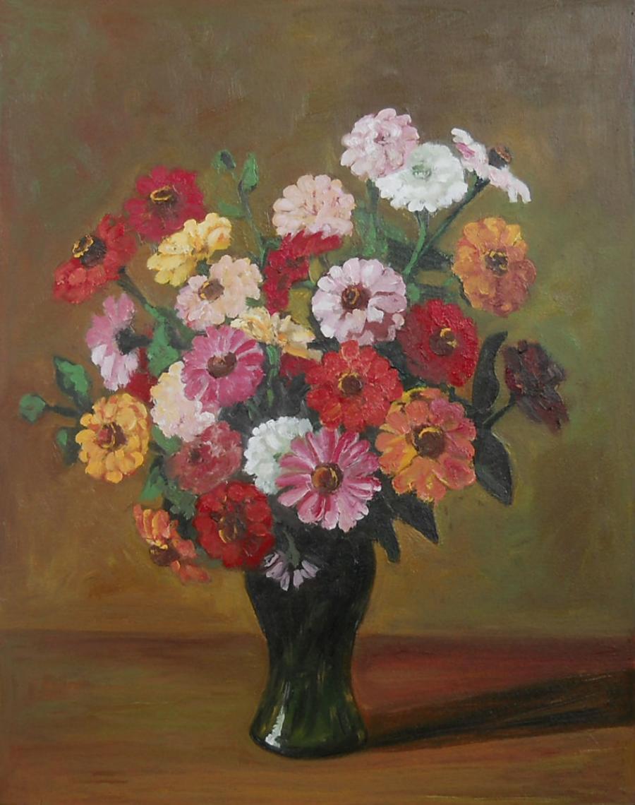 Picturi cu flori flori de vara in vas de sticla