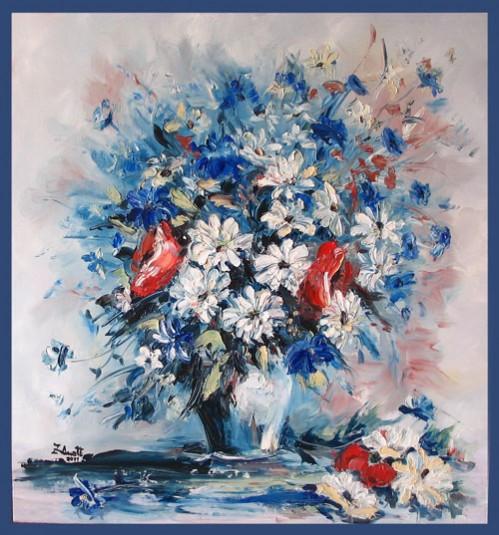 Picturi cu flori Flori albastre