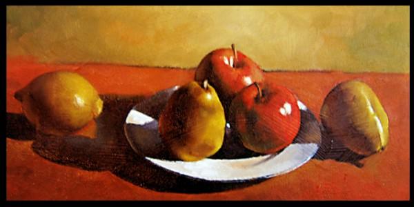 Picturi cu flori Farfurie cu fructe
