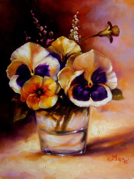 Picturi cu flori Pansele