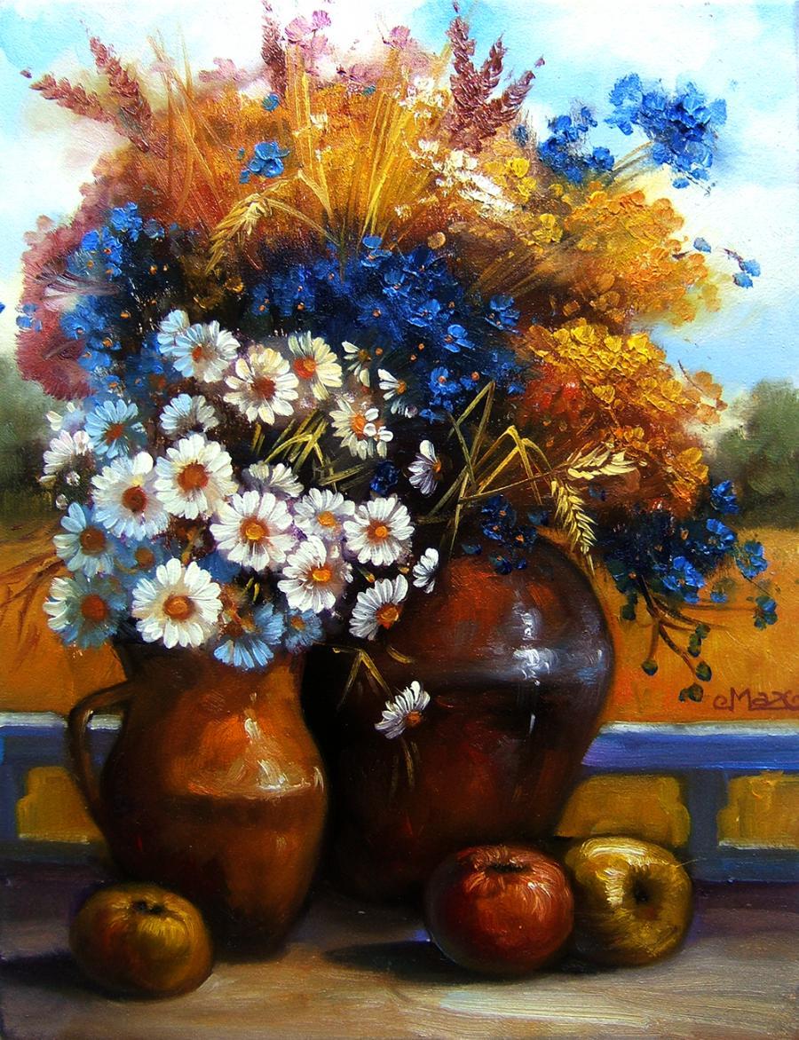 Picturi cu flori provance.