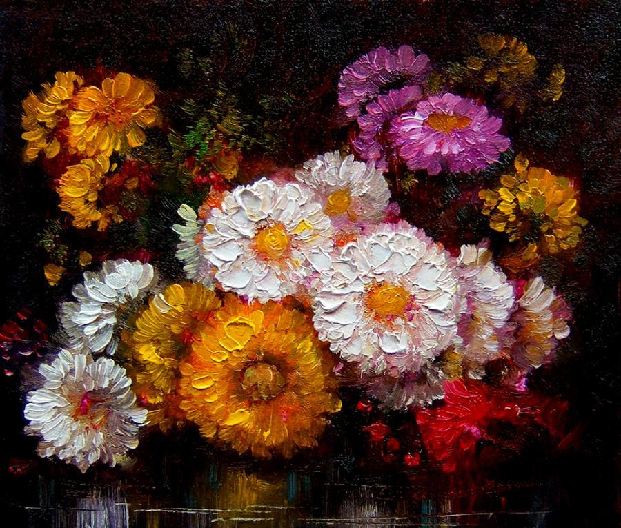 Picturi cu flori tufanele 2