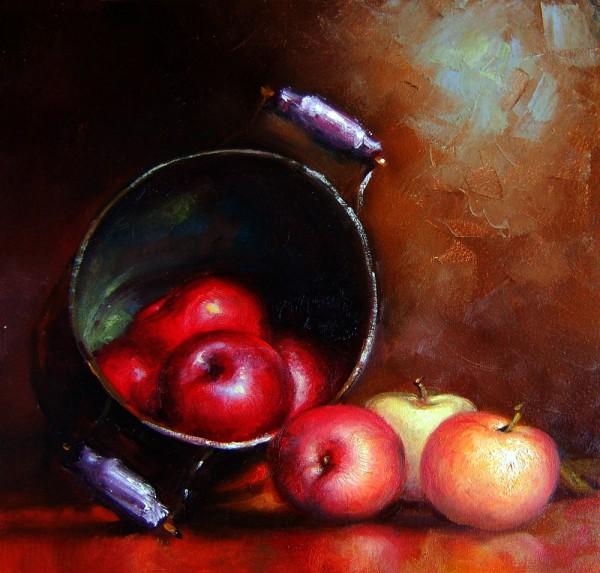 Picturi cu flori Vas cu mere