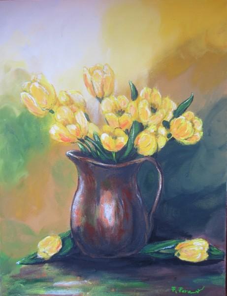 Picturi cu flori Vaza cu lalele