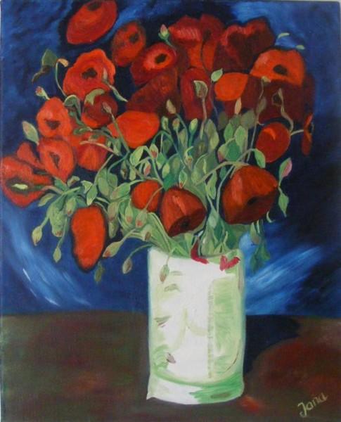 Picturi cu flori Vaza cu maci