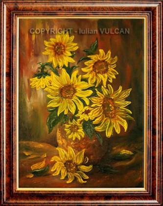 Picturi cu flori Buchetul soarelui
