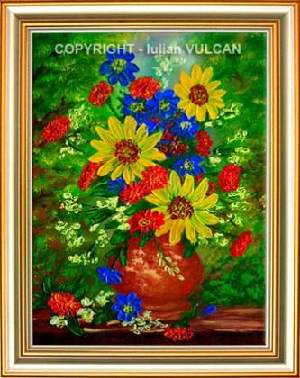 Picturi cu flori Tricolor