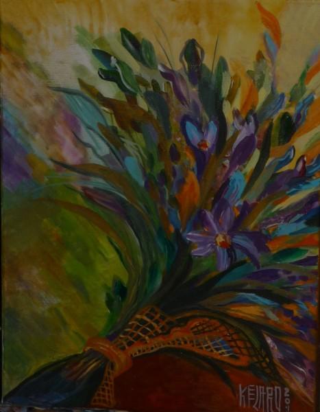 Picturi cu flori Voaleta de toamna