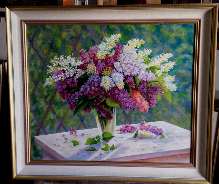 Picturi cu flori flori de liliac 4