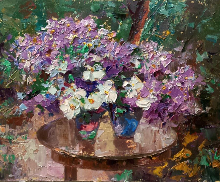 Picturi cu flori flori in peisaj