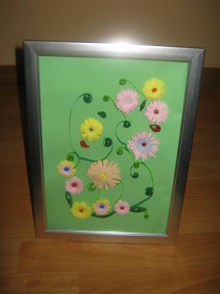 Picturi cu flori camp cu flori mici