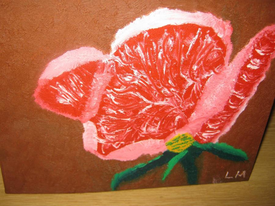 Picturi cu flori trandafir roz1