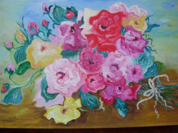 Picturi cu flori Buchet de roze