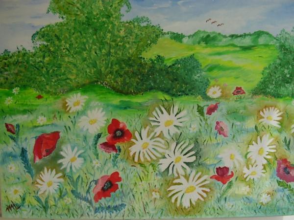 Picturi cu flori Camp cu flori