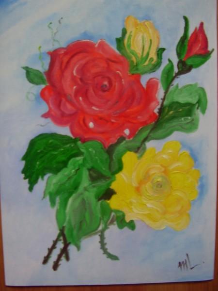Picturi cu flori Sarutul diminetii
