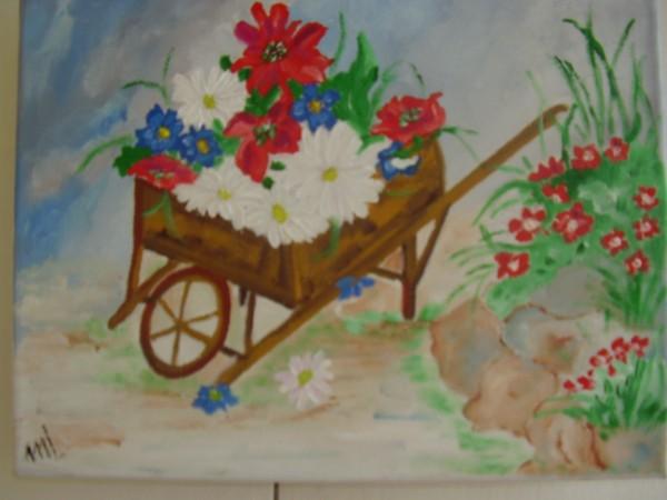 Picturi cu flori Un colt cu flori