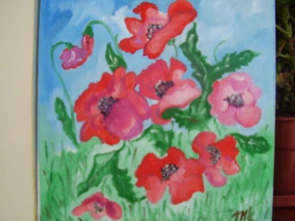 Picturi cu flori Zambet de ianuarie
