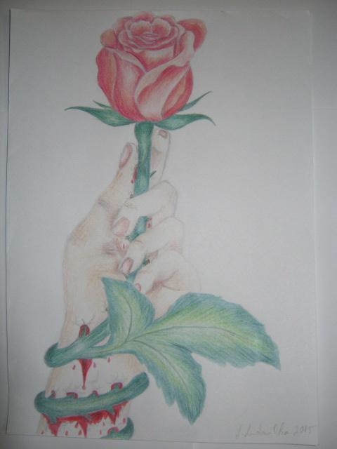 Picturi cu flori Frumusetea e dureroasa