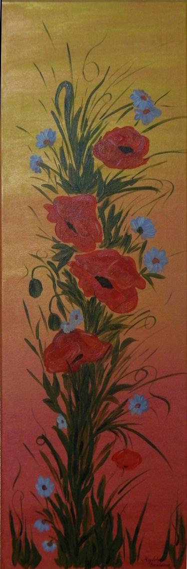 Picturi cu flori Maci - decor