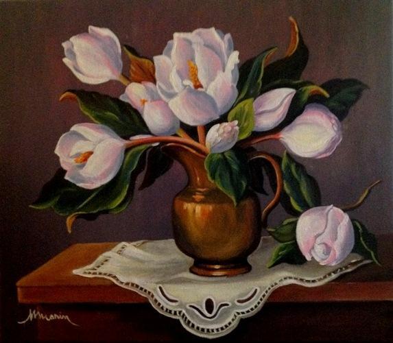 Picturi cu flori Magnolii 01
