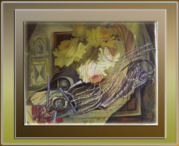 Picturi cu flori Abstract--185