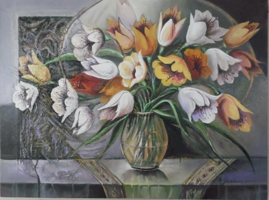 Picturi cu flori   flori de gradina  lalele
