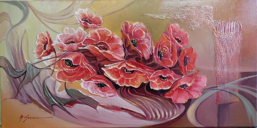 Picturi cu flori maci  moderni   2014