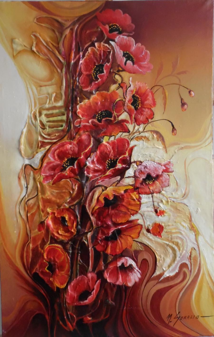 Picturi cu flori macii--x04
