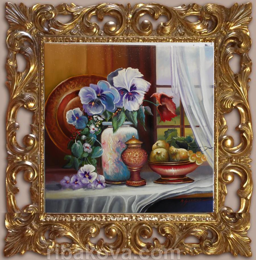 Picturi cu flori panselute  ga22