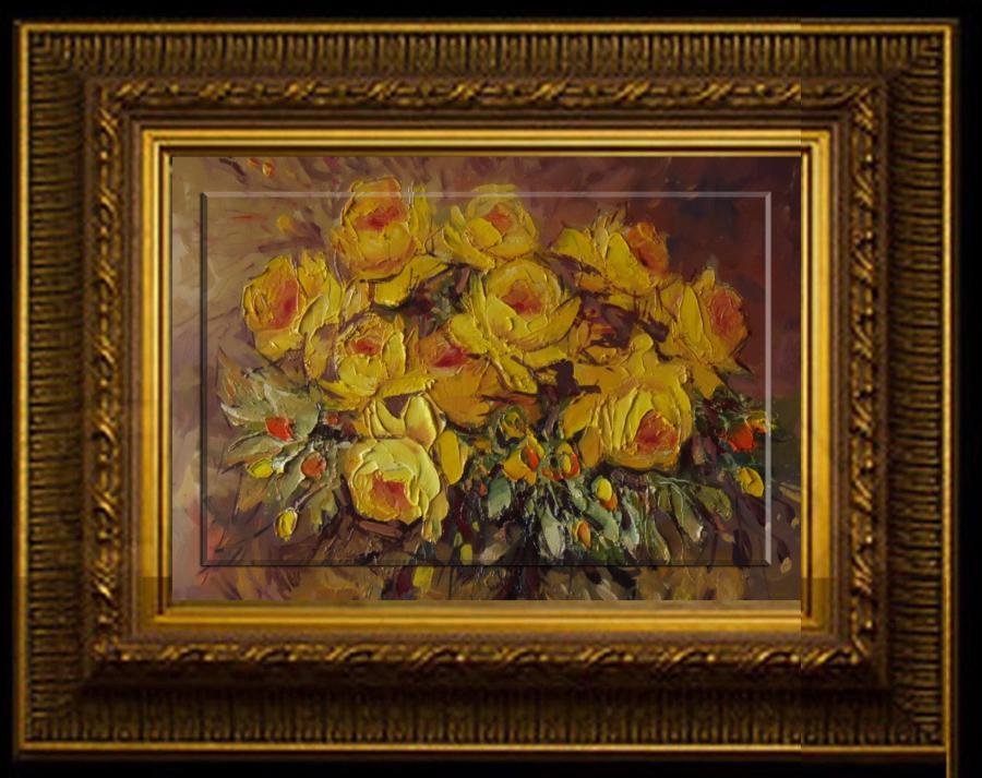 Picturi cu flori trandafiri cu esenta divina
