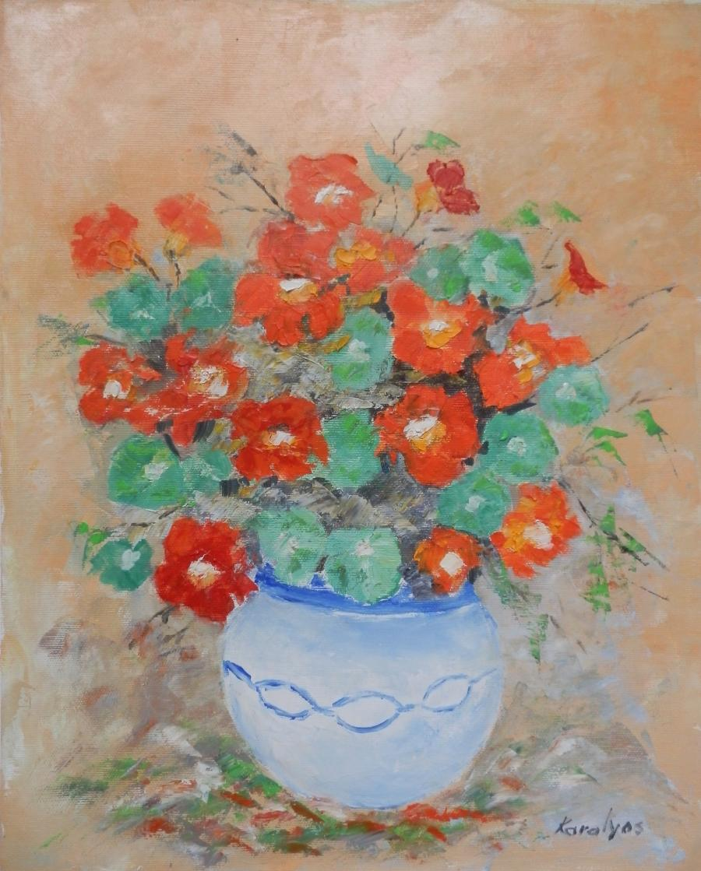 Picturi cu flori Vas cu condurasi