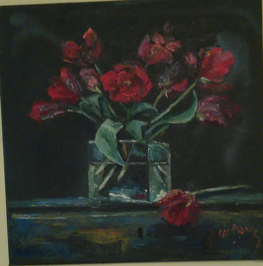 Picturi cu flori Lalele înflorite