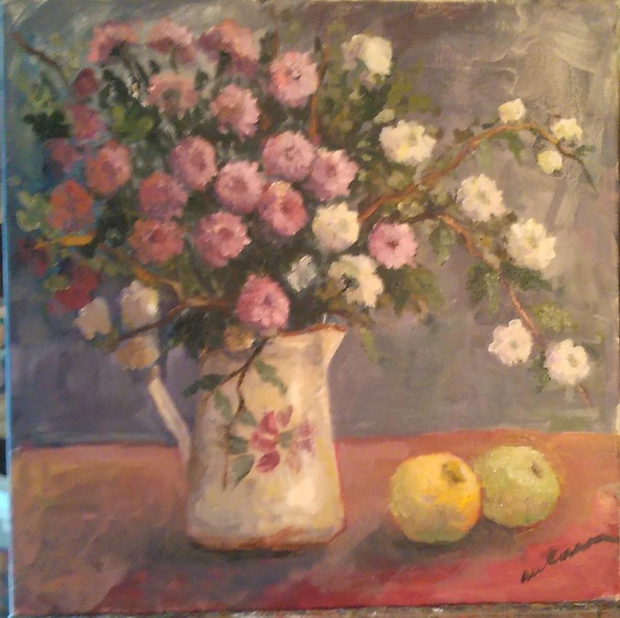 Picturi cu flori Tufanele in cana