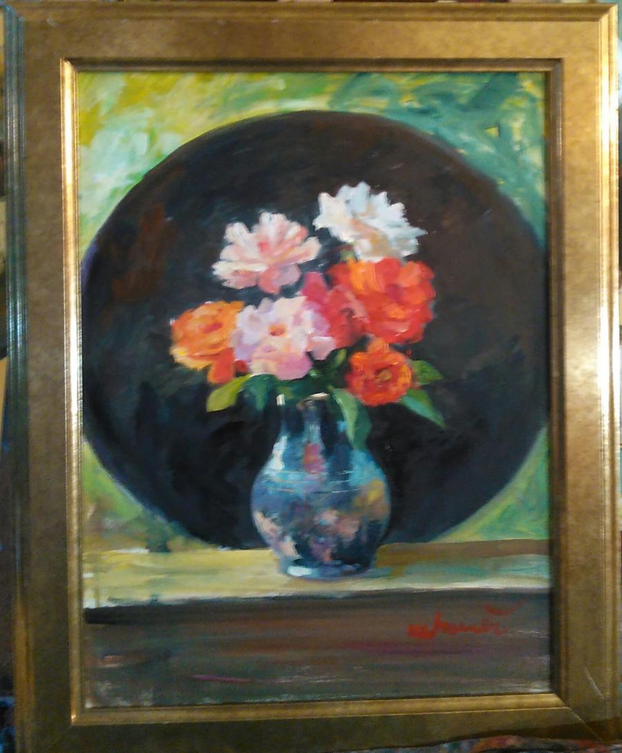Picturi cu flori Vaza de porțelan