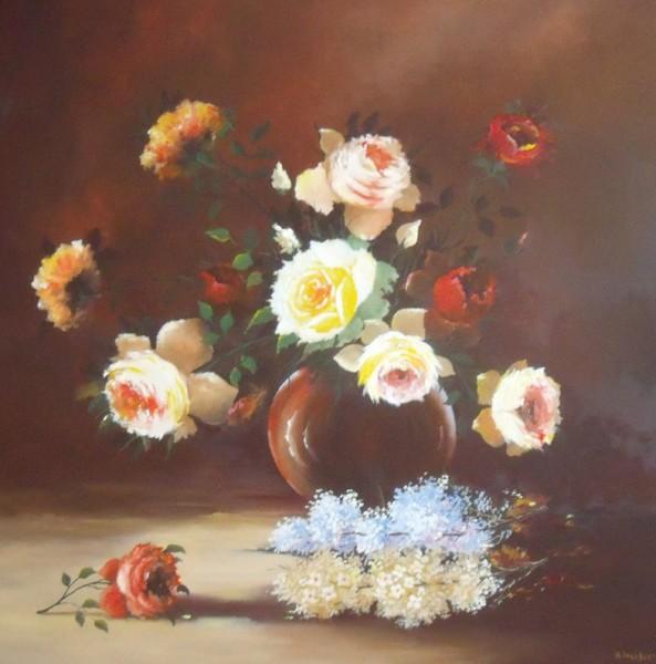 Picturi cu flori Trandafiri mari 3