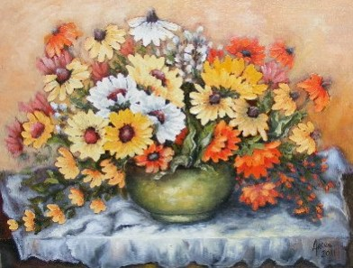 Picturi cu flori Cantec