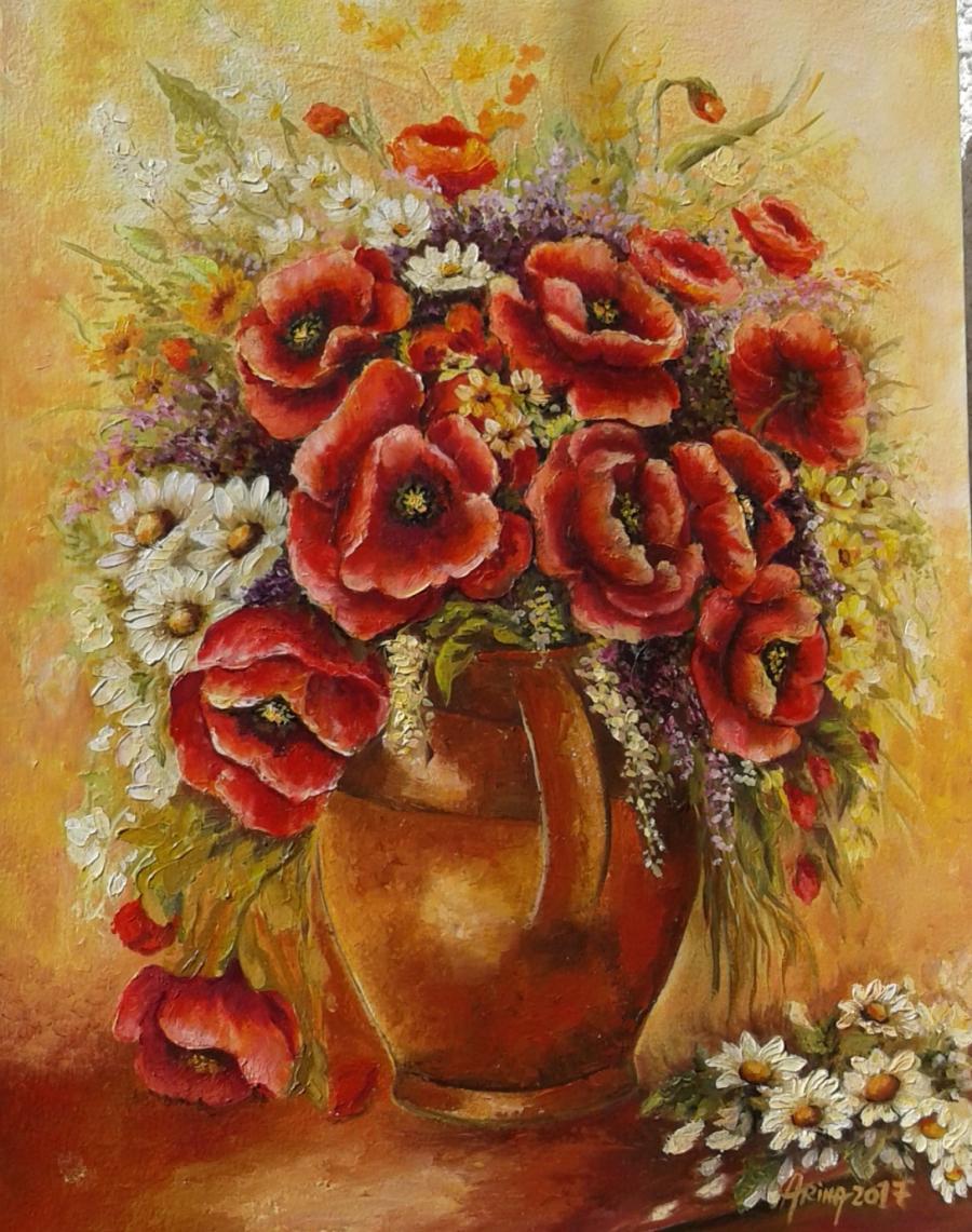 Picturi cu flori Maci in amintirea verii