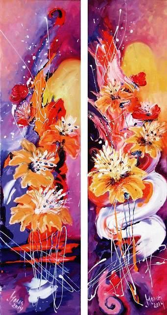 Picturi cu flori Cand ploaia va veni
