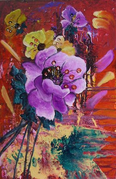 Picturi cu flori Cu miros de anemone