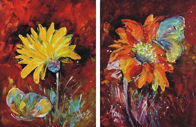 Picturi cu flori In crang fluturi nu mai sunt