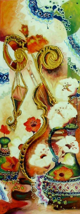 Picturi cu flori La hidede (balul) din sat