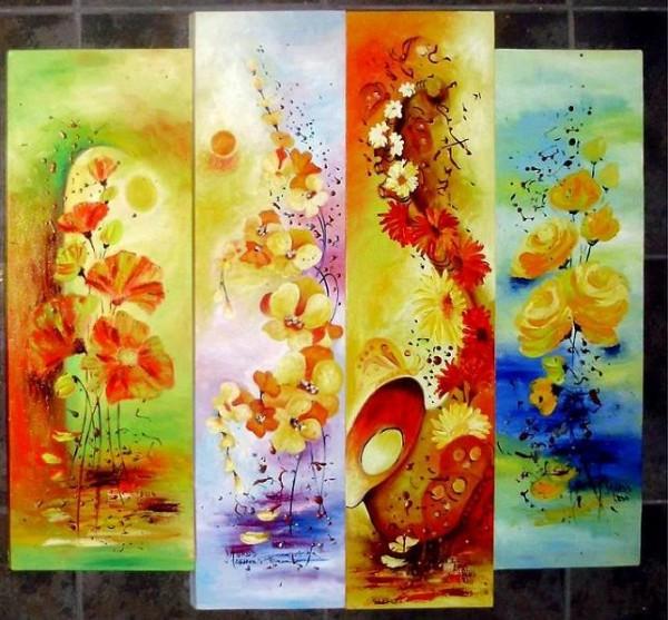 Picturi cu flori Mladite raza de luna