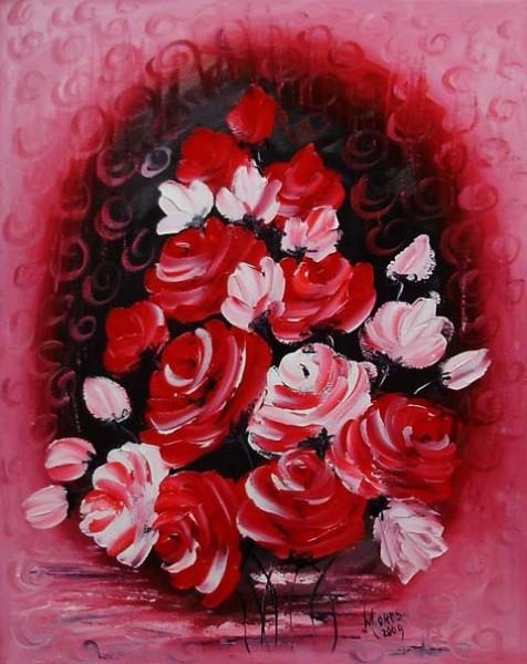 Picturi cu flori Ploaia de trandafiri