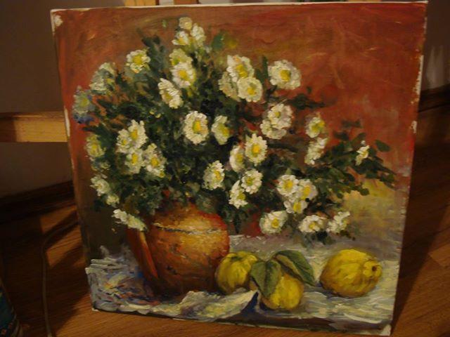 Picturi cu flori tufanele pe panza