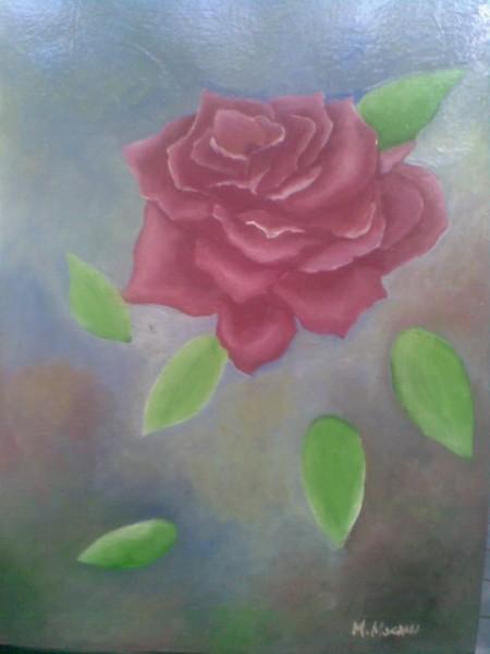 Picturi cu flori Trandafirul rosu