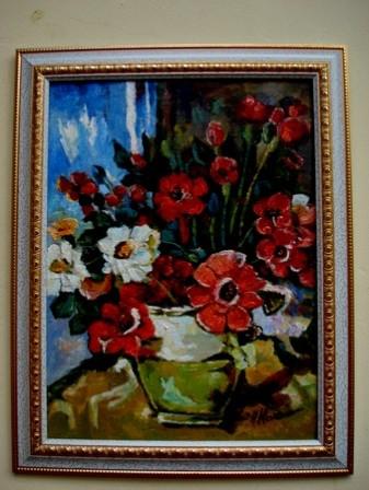 Picturi cu flori Floarea pastelui