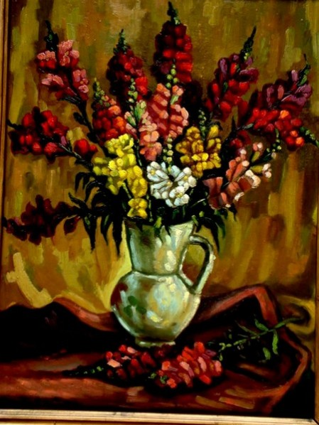Picturi cu flori Flori- gura leului1