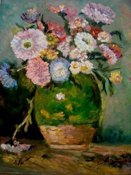 Picturi cu flori Flori de gradina12