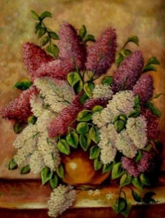 Picturi cu flori Tablou liliac2
